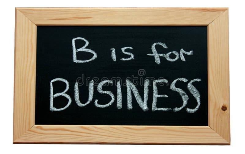 B ist für Geschäft lizenzfreie stockfotos