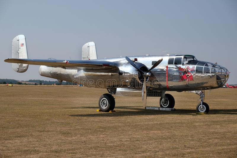 B25J norteamericano Mitchell, bombardero medio de la Segunda Guerra Mundial foto de archivo