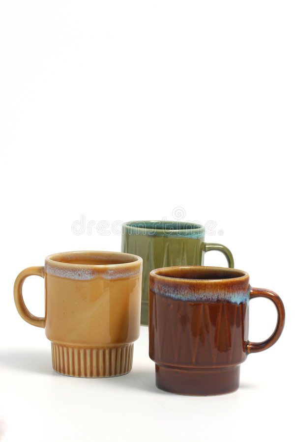 b-kaffekoppar över white royaltyfri foto