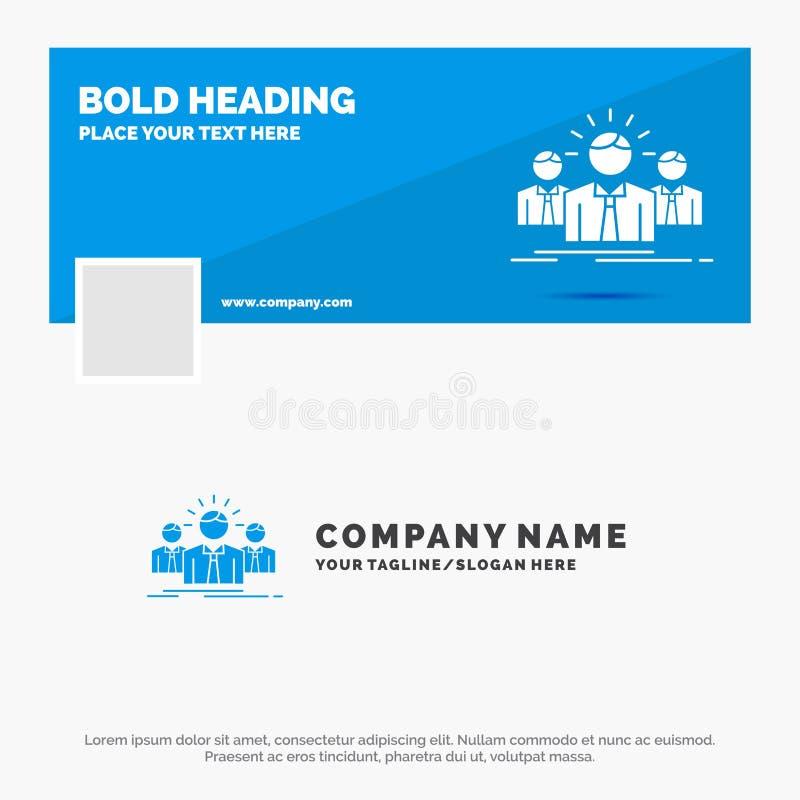 B??kitny Biznesowy logo szablon dla biznesu, kariera, pracownik, przedsi?biorca, lider Facebook linia czasu sztandaru projekt Wek ilustracji