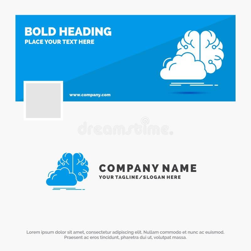 B??kitny Biznesowy logo szablon dla brainstorming, kreatywnie, pomys?, innowacja, inspiracja Facebook linia czasu sztandaru proje ilustracji