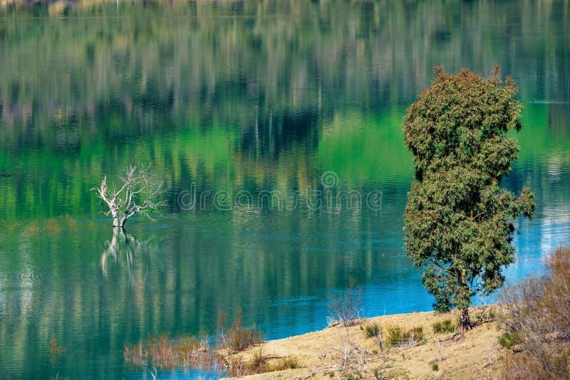 B??kitny jezioro w Zahara De Los angeles Sierry, Cadiz prowincja, Andalusia, Hiszpania fotografia stock