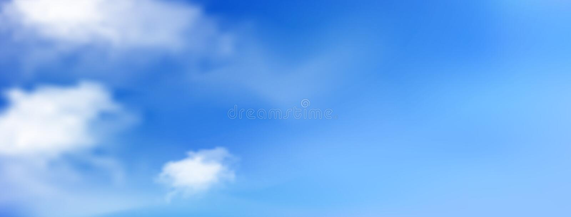 B??kitny pogodny niebo z bia?ymi chmurami ilustracja wektor