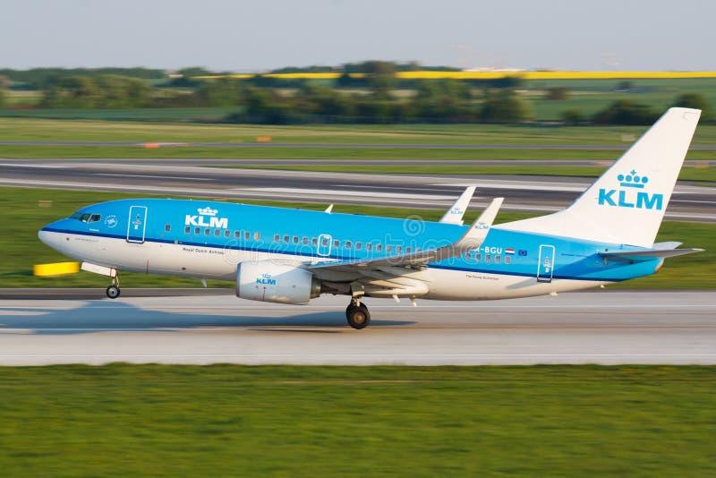 B737 KLM images libres de droits