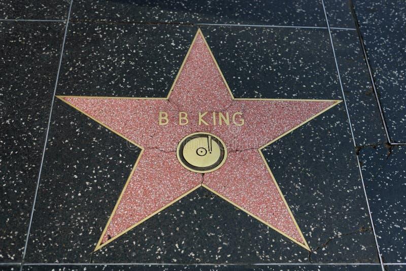 B B Koningsster op de Hollywood-Gang van Bekendheid stock fotografie
