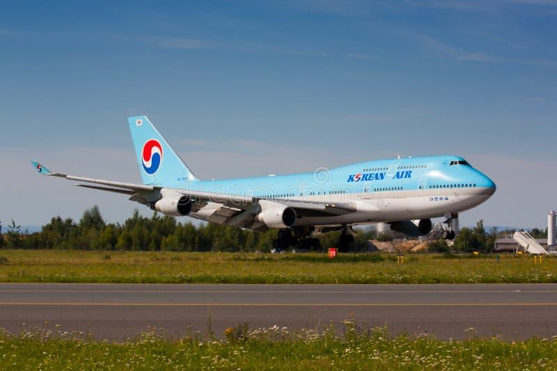 B747 Korean Air immagini stock libere da diritti