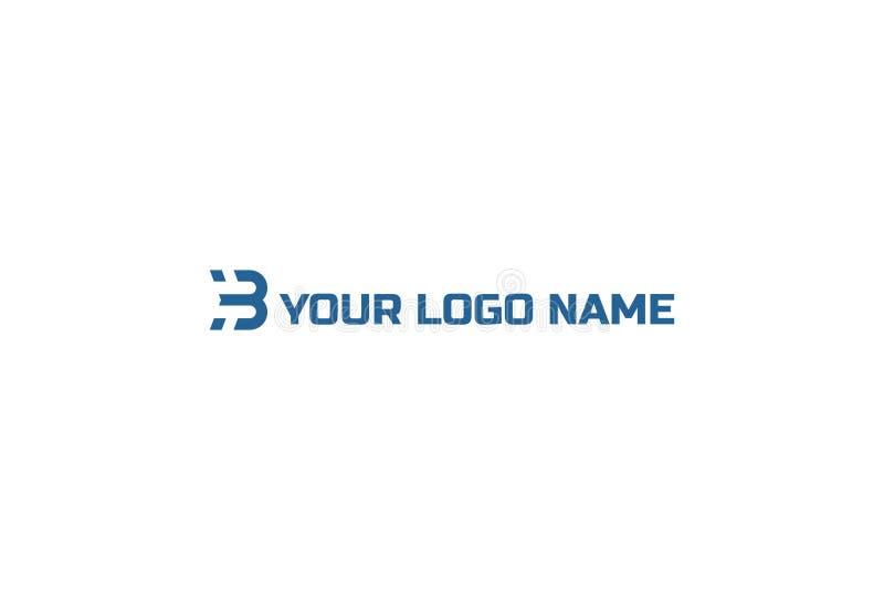 B kreskowej sztuki monograma logo projekt ilustracja wektor