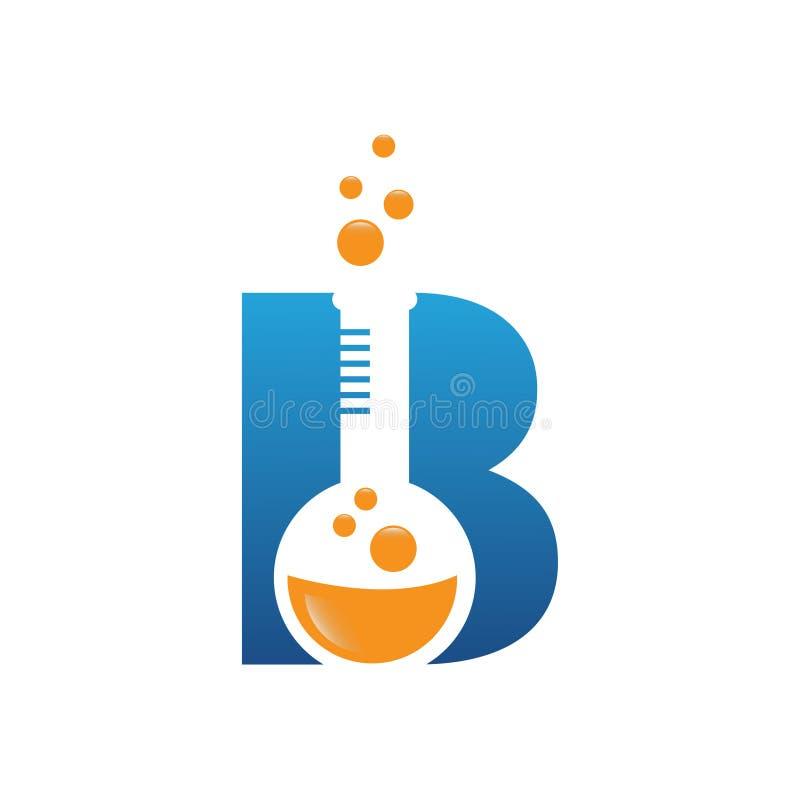 B letter education lab concept logo. B letter education lab concept Vector logo template, abstract business letter B logo vector stock illustration