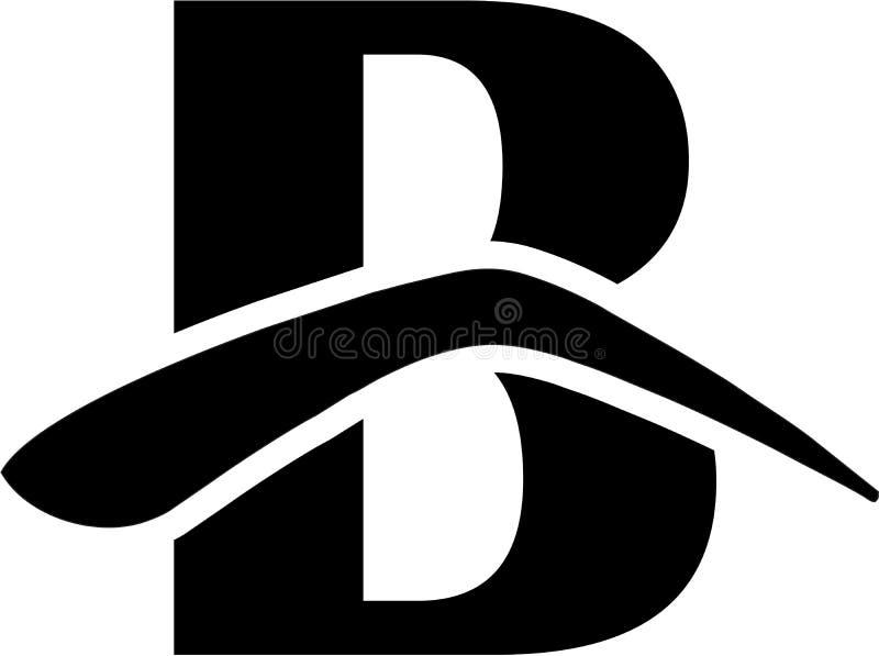 B letter logo Eyebrows. B logo Eyebrows Threading Upercase stock illustration
