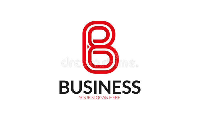 B Letter Logo. Minimalist and modern letter logo template. Simple work and adjusted to suit your needs stock illustration