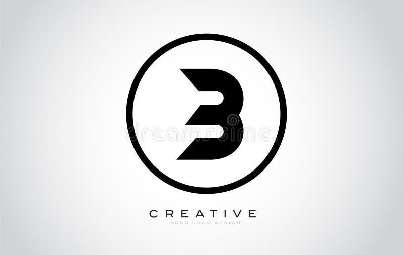B Letter Monogram Logo Design. Modern B Icon With Creative Beautiful Black Monogram. Design royalty free illustration