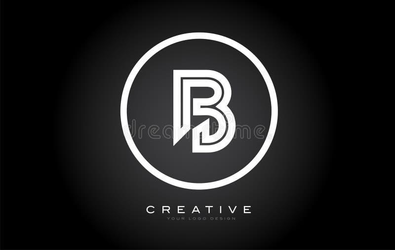 B Letter Monogram Logo Design. Modern B Icon With Creative Beautiful Black Monogram. Design vector illustration