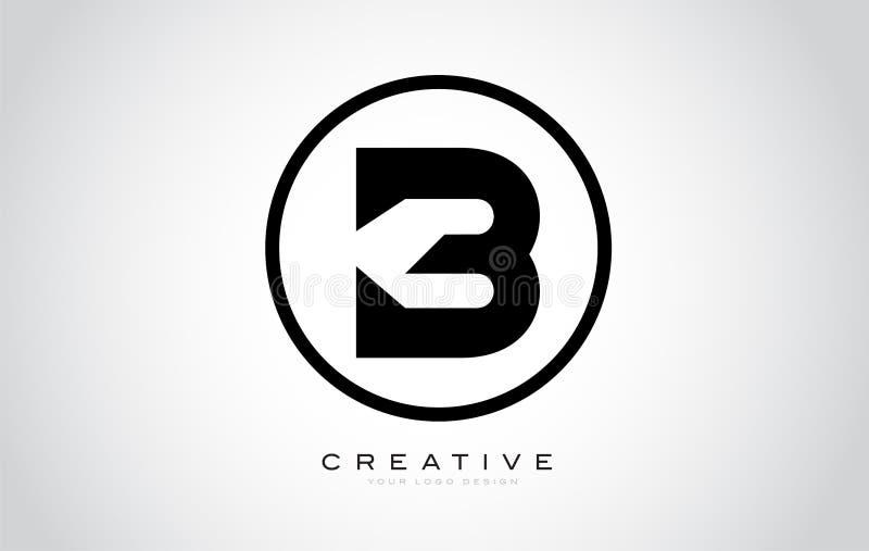 B Letter Monogram Logo Design. Modern B Icon With Creative Beautiful Black Monogram. Design stock illustration