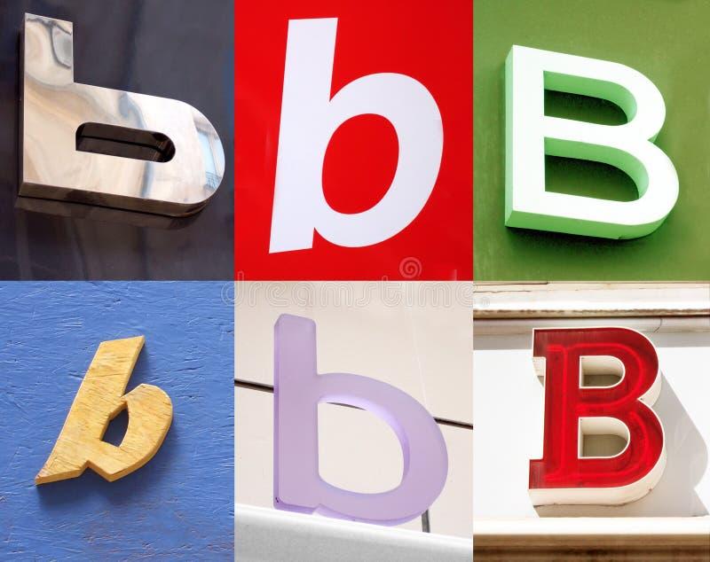 B Letter - Urban Collection Stock Photos