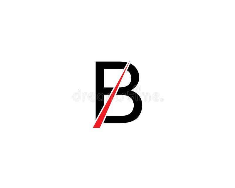 B Letter vector illustration. B Letter logo template vector illustration icon shield secure font guard swoosh corporate business concept sign safe symbol royalty free illustration