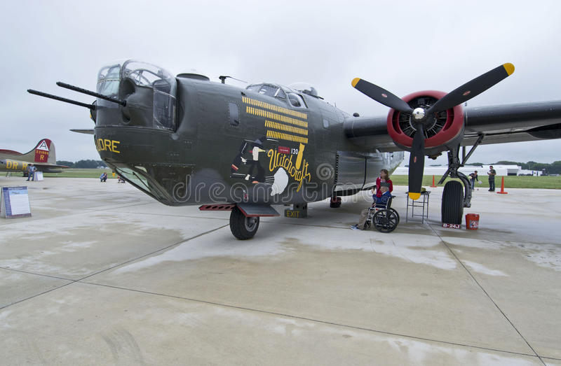 B24 Liberator. For use when world war II aircraft are available for view at various airports stock photography