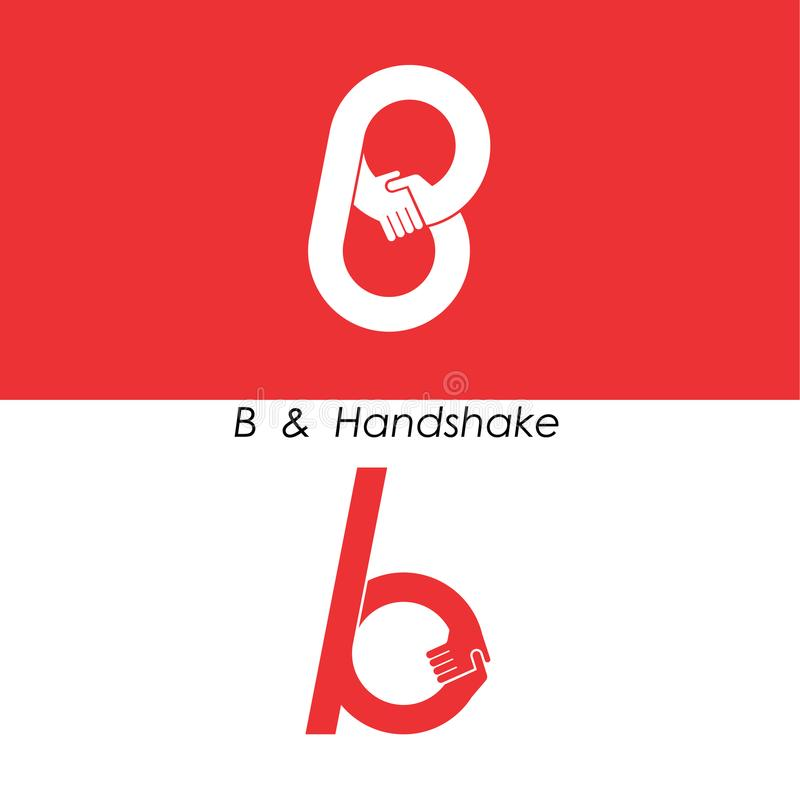 B - Listowy abstrakcjonistyczny ikony & ręka loga projekta wektoru szablon Herbata royalty ilustracja