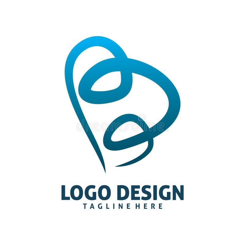 B listowy Logo royalty ilustracja