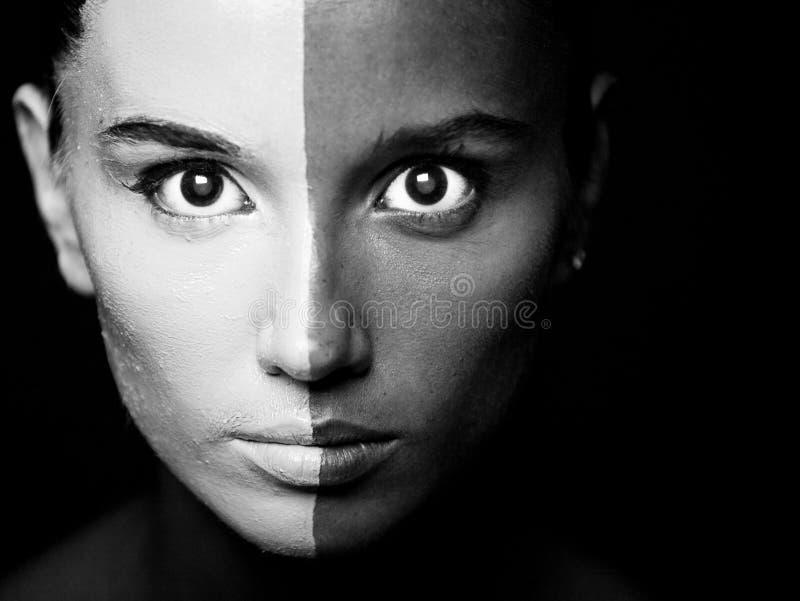 B Makeup Portreta Stylu Mody W Kobieta Obraz Stock