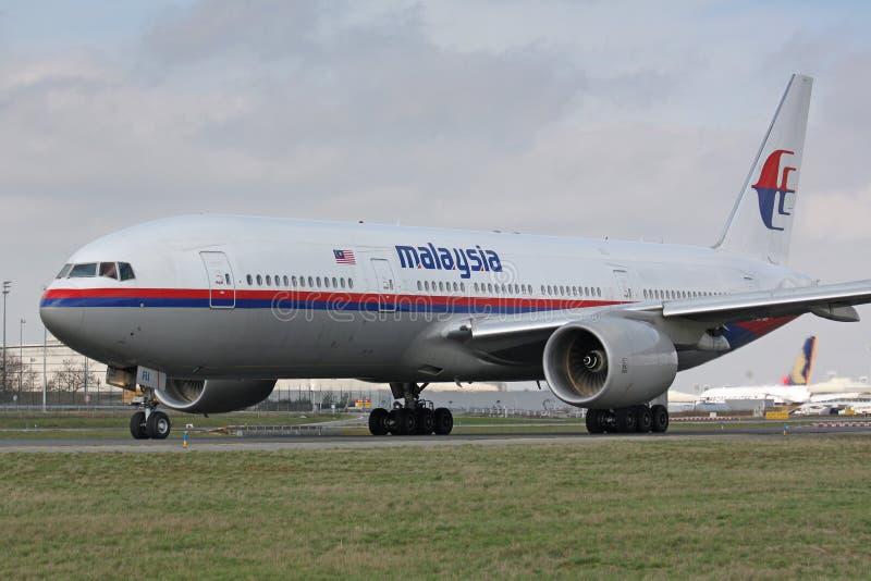 B777 Malaysia Airlines imagem de stock