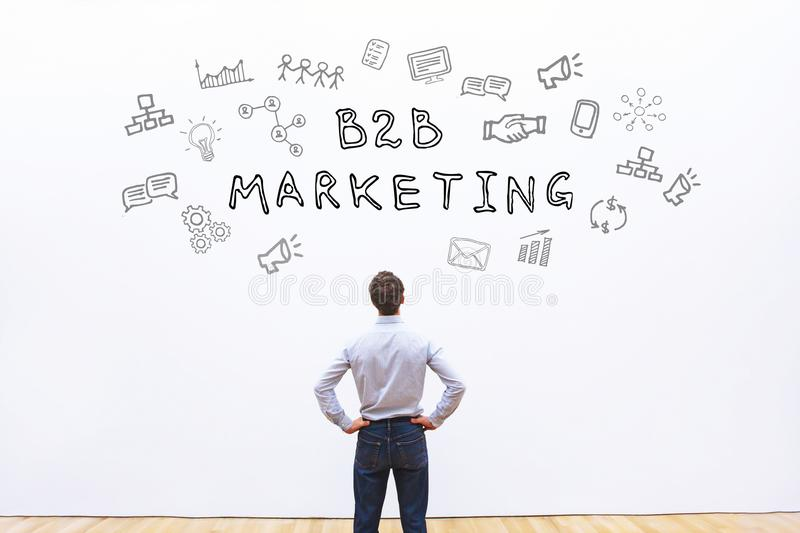 B2b marketing. Concept, business to business royalty free stock images