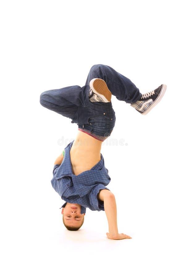 B-menino na dança fotografia de stock