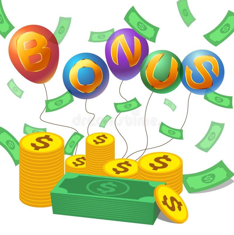 Bônus com dinheiro, moeda ilustração royalty free