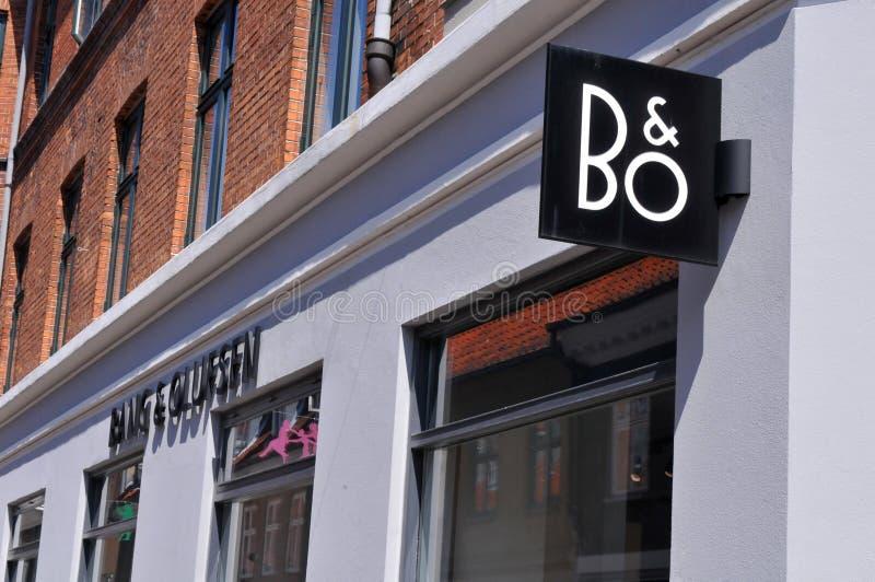 B&O轰隆和Olufsen收音机和电视商店在丹麦 免版税图库摄影