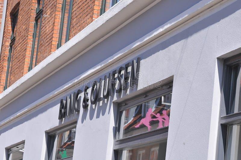 B&O轰隆和Olufsen收音机和电视商店在丹麦 库存照片