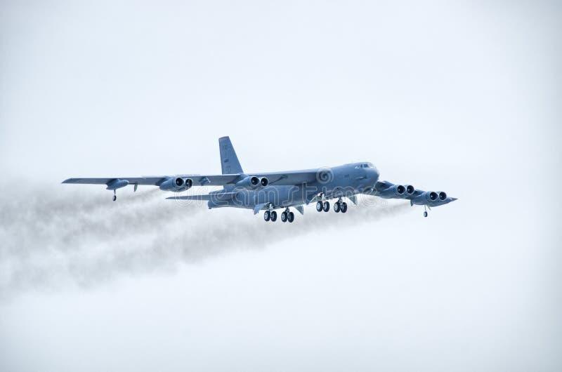 B-52 op Radom Airshow, Polen stock afbeelding