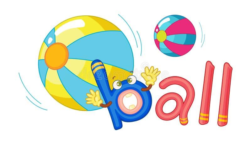 B para a esfera ilustração stock