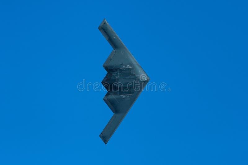 B2 podstępu bombowiec flyover rose bowl obrazy stock
