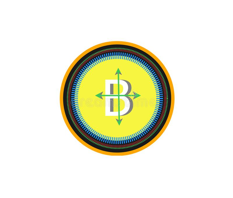 B positive logo world currency royalty free stock image