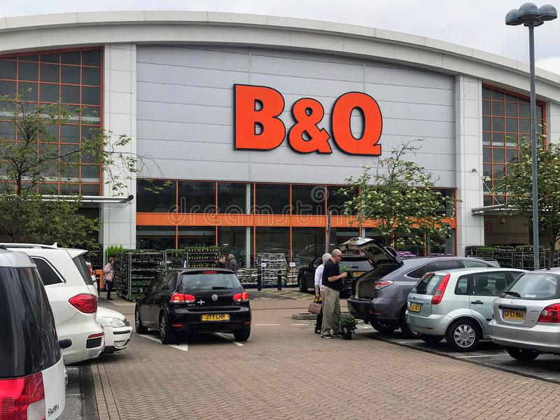 B&Q shop stock images