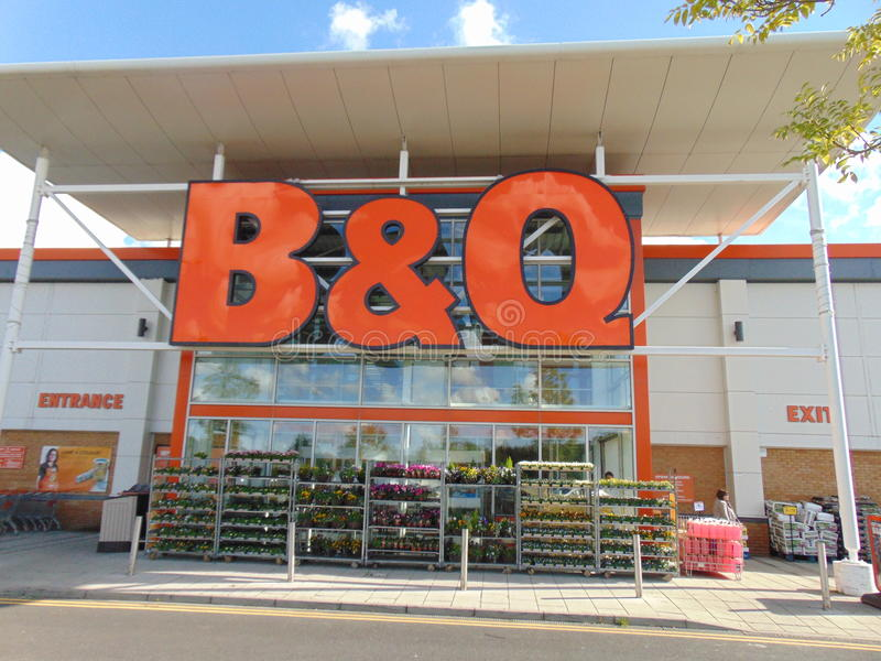 B & Q Store royalty free stock image
