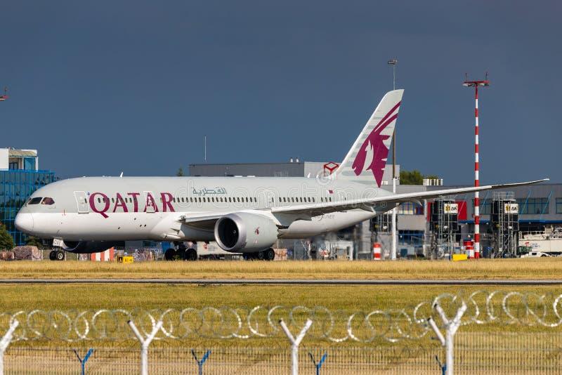 B787 Qatar fotografía de archivo