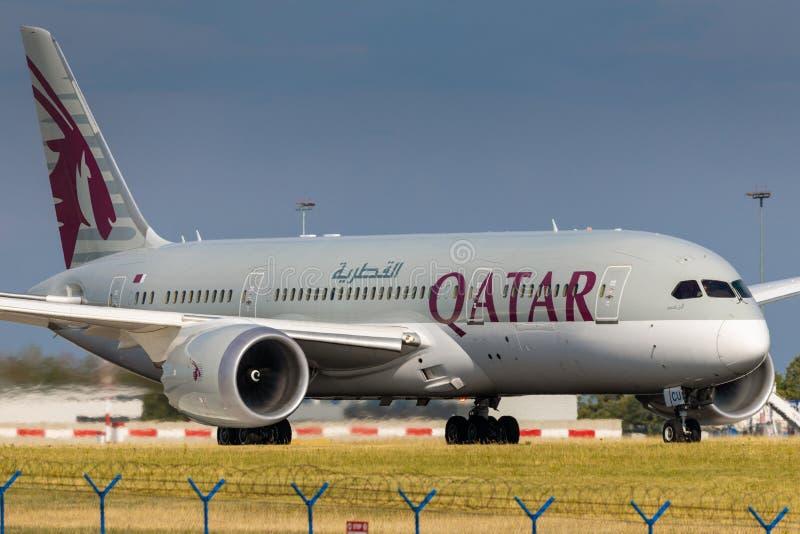 B787 Qatar immagine stock