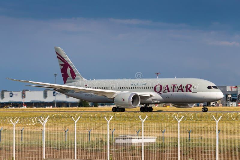 B787 Qatar fotografie stock