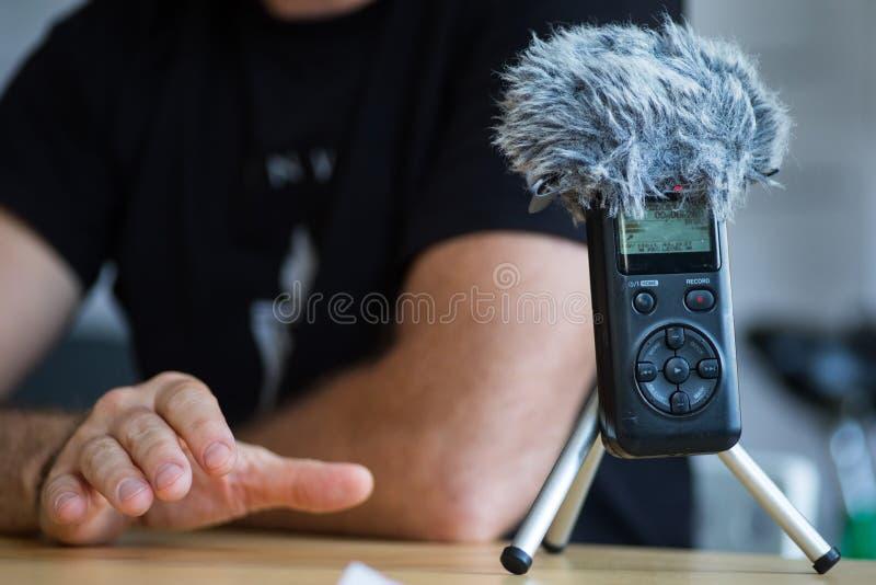 B?rbar ljudsignal registreringsapparat royaltyfria bilder
