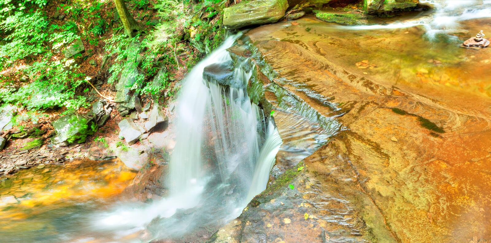 B. Reynolds. Fall in Ricketts Glen State Park stock images