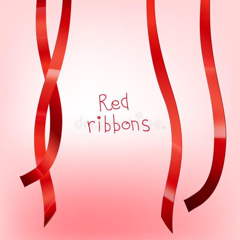 B rojo encrespado cinta ilustración del vector
