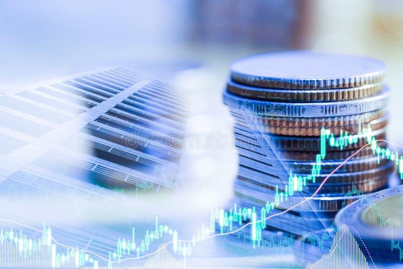 B?rse oder Devisenhandelsdiagramm und -kerzenst?nder entwerfen passendes f?r Finanzinvestitionskonzept Der Unternehmensplan am Tr lizenzfreie stockbilder