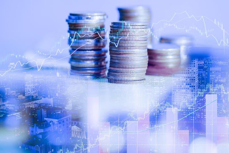 B?rse oder Devisenhandelsdiagramm und -kerzenst?nder entwerfen passendes f?r Finanzinvestitionskonzept Der Unternehmensplan am Tr lizenzfreies stockbild