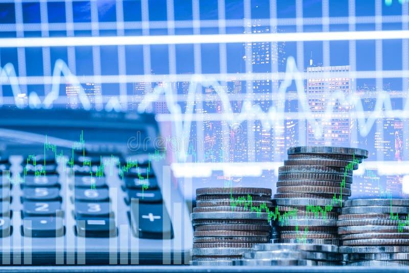 B?rse oder Devisenhandelsdiagramm und -kerzenst?nder entwerfen passendes f?r Finanzinvestitionskonzept Der Unternehmensplan am Tr stockfotos