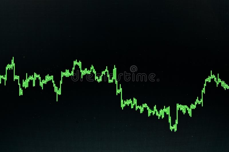 B?rse oder Devisenhandelsdiagramm und -kerzenst?nder entwerfen passendes f?r Finanzinvestitionskonzept Der Unternehmensplan am Tr lizenzfreie stockfotos