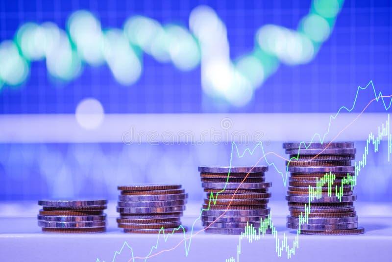 B?rse oder Devisenhandelsdiagramm und -kerzenst?nder entwerfen passendes f?r Finanzinvestitionskonzept Der Unternehmensplan am Tr stockfoto