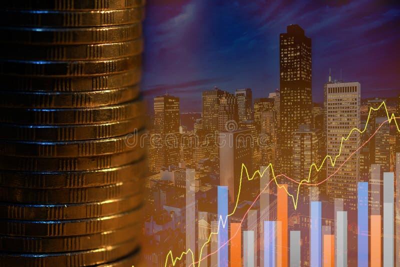 B?rse oder Devisenhandelsdiagramm und -kerzenst?nder entwerfen passendes f?r Finanzinvestitionskonzept Der Unternehmensplan am Tr stockfotografie