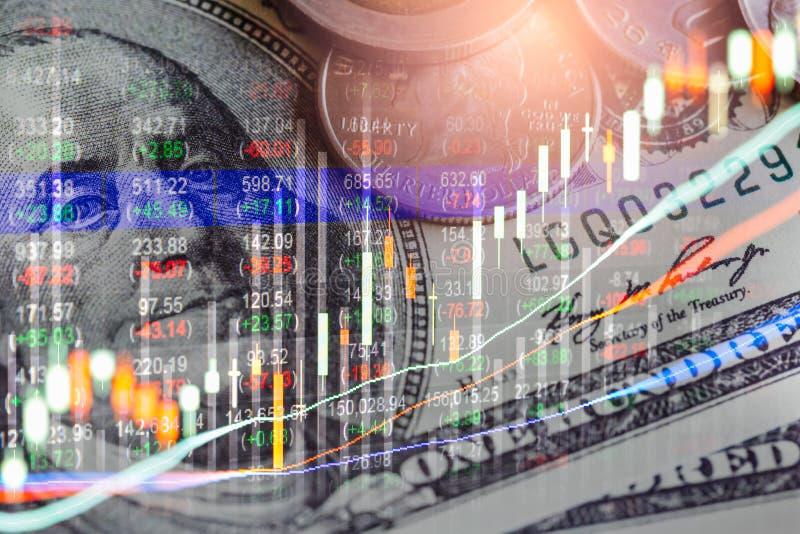 B?rse oder Devisenhandelsdiagramm und -kerzenst?nder entwerfen passendes f?r Finanzinvestitionskonzept Wirtschaft neigt Hintergru lizenzfreies stockfoto