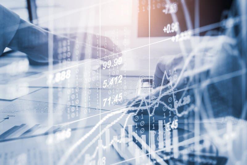 B?rse oder Devisenhandelsdiagramm und -kerzenst?nder entwerfen passendes f?r Finanzinvestitionskonzept Wirtschaft neigt Hintergru stockfotos