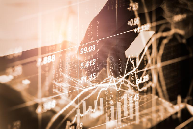 B?rse oder Devisenhandelsdiagramm und -kerzenst?nder entwerfen passendes f?r Finanzinvestitionskonzept Wirtschaft neigt Hintergru lizenzfreie stockfotos